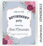 retirement party invitation.... | Shutterstock .eps vector #1096082813