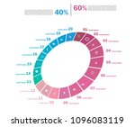 set of cycle percentage flow... | Shutterstock .eps vector #1096083119