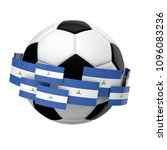 soccer football with nicaragua... | Shutterstock . vector #1096083236