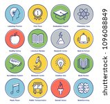 education related line icons... | Shutterstock .eps vector #1096088849