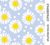 daisy flower seamless pattern... | Shutterstock .eps vector #1096088963