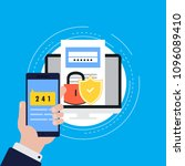 smartphone verification process ... | Shutterstock .eps vector #1096089410