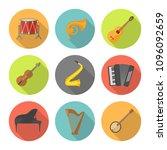 musical instruments  flat...   Shutterstock .eps vector #1096092659