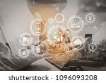 smart factory and industry 4.0... | Shutterstock . vector #1096093208