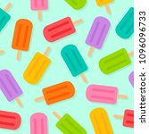 colorful popsicles with shadow... | Shutterstock .eps vector #1096096733