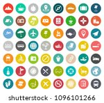 vector travel icons  hotel ... | Shutterstock .eps vector #1096101266
