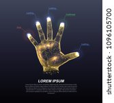 hologram hands of lines and... | Shutterstock .eps vector #1096105700