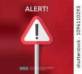 warning alert sign with... | Shutterstock .eps vector #1096110293