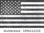 grunge black and white usa flag.... | Shutterstock .eps vector #1096112123