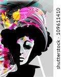 vector floral women | Shutterstock .eps vector #109611410