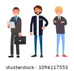 set of male characters in... | Shutterstock .eps vector #1096117553