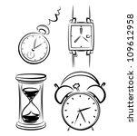 clock set | Shutterstock .eps vector #109612958