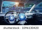 cockpit of futuristic...
