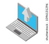 laptop upload browsing data... | Shutterstock .eps vector #1096131296