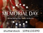 american flag with the text... | Shutterstock . vector #1096133390