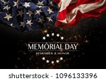 american flag with the text... | Shutterstock . vector #1096133396
