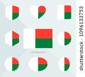 madagascar flag.  | Shutterstock .eps vector #1096133753