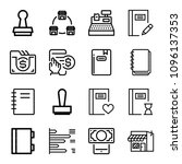 outline business icon set such... | Shutterstock .eps vector #1096137353