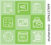 outline interface icon set such ... | Shutterstock .eps vector #1096137899