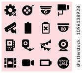 filled technology icon set such ... | Shutterstock .eps vector #1096138928