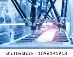 robotic pneumatic piston sucker ... | Shutterstock . vector #1096141913