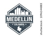 medellin colombia travel stamp... | Shutterstock .eps vector #1096144883