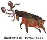 Big Antlered Deer Illustration  ...
