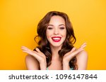 portrait of cheerful positive... | Shutterstock . vector #1096147844