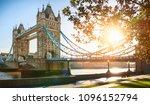 the london tower bridge at... | Shutterstock . vector #1096152794