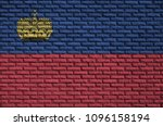 liechtenstein flag is painted... | Shutterstock . vector #1096158194