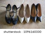 different women's shoes | Shutterstock . vector #1096160330