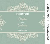 save the date invitation card... | Shutterstock .eps vector #1096160846