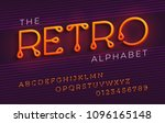 thin stylized italic retro... | Shutterstock .eps vector #1096165148