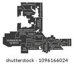 las vegas nevada city map usa... | Shutterstock .eps vector #1096166024