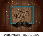 happy fathers day greeting card ... | Shutterstock .eps vector #1096170329