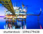 oil and gas offshore platform... | Shutterstock . vector #1096179638