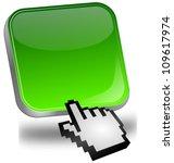 green blank button with cursor   Shutterstock . vector #109617974