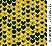 black and gold cute hearts...   Shutterstock .eps vector #1096181780