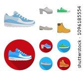 flip flops  clogs on a high... | Shutterstock .eps vector #1096185554