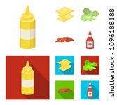 burger and ingredients cartoon... | Shutterstock .eps vector #1096188188