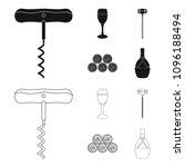corkscrew  alcohol counter ... | Shutterstock .eps vector #1096188494