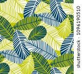 vibrant cool leaves seamless...   Shutterstock .eps vector #1096190510