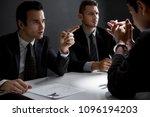 criminal man with handcuffs...   Shutterstock . vector #1096194203