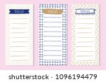 agenda blank lists in doodles... | Shutterstock .eps vector #1096194479