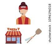 pizza and pizzeria cartoon... | Shutterstock .eps vector #1096196018