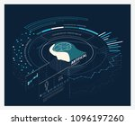 ai artificial intelligence... | Shutterstock .eps vector #1096197260