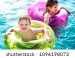 cheerful brother and sister...   Shutterstock . vector #1096198073