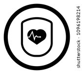 cardio icon and shield....   Shutterstock .eps vector #1096198214