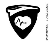 cardio icon and shield....   Shutterstock .eps vector #1096198238