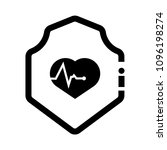cardio icon and shield....   Shutterstock .eps vector #1096198274